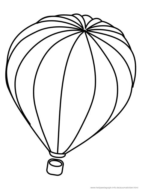 ausmalbilder heissluftballons