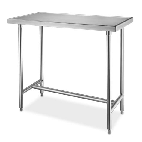 small stainless steel kitchen table stainless steel chef s tables williams sonoma