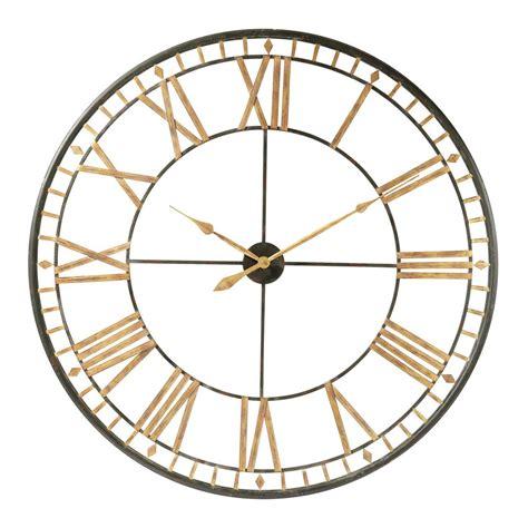 chambre ado vintage horloge en métal d 120 cm la vallière maisons du monde