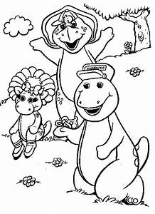 Barney Coloring Pages - Coloringpages1001.com