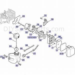 Stihl Hs 45 Petrol Hedgetrimmer  Hs45  Parts Diagram  Air