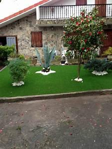 Foto  Jardin Cesped Artificial Y Vivienda De Manuel A