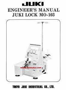 Juki Mo 103 Service Manual