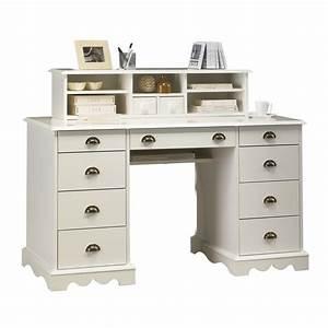 Bureau But Blanc : bureau blanc de style anglais bureau du notaire maison et styles ~ Teatrodelosmanantiales.com Idées de Décoration