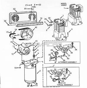 Campbell Hausfeld Parts Vt558705aj Air Compressor