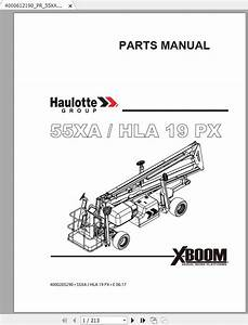 Haulotte Articulated Boom Lift 55xa Hla19px Parts Manual