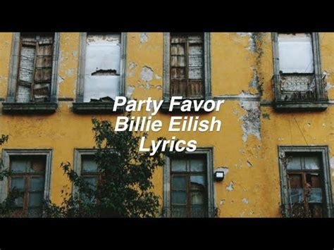 party favor billie eilish lyrics chords chordify