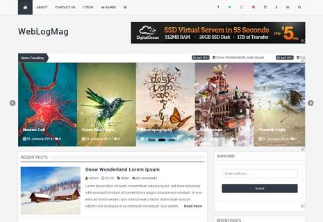 best blogger 10 best templates of the month april 2014
