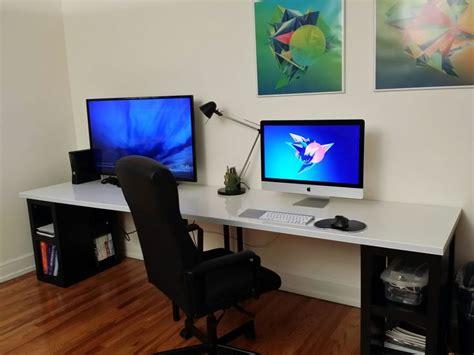 Ikea Computer Desk Reddit by Reddit User Jitzler1 S Battlestation Workspace