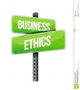 Business Ethics Road Signs