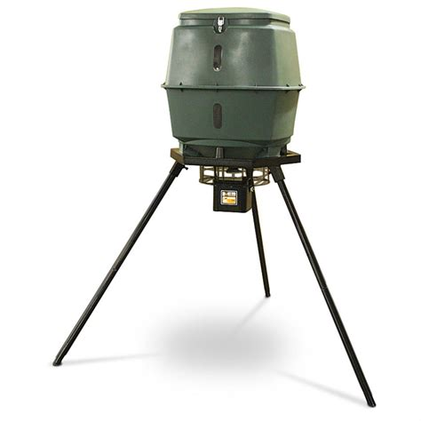 hunten outdoors digital tripod feeder 181404 feeders at
