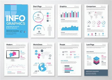 Twitter Graphic Template by 40 Free Infographic Templates To Download Hongkiat