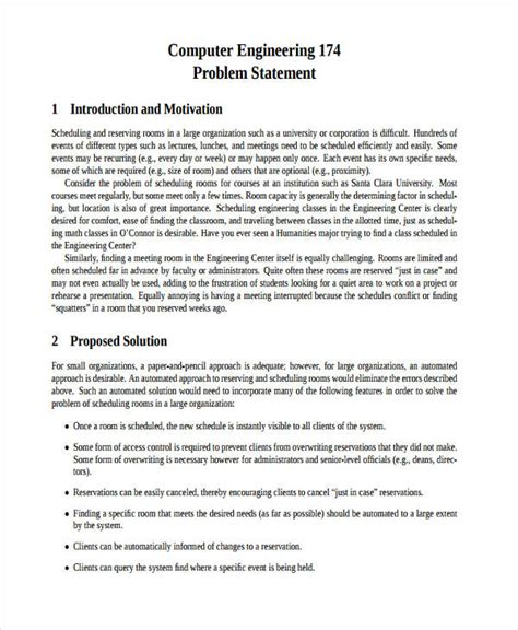 problem statement examples samples   examples
