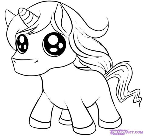 draw cute cartoon animals  chibi unicorn step