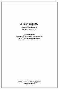 Dissertation Cover Page Template Essay Writing Vocabulary Uclan