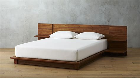 wood bed frame king andes acacia bed cb2