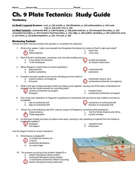 Sea Floor Spreading Plate Tectonics Worksheet Answers by Seafloor Spreading Worksheet Answers Deployday