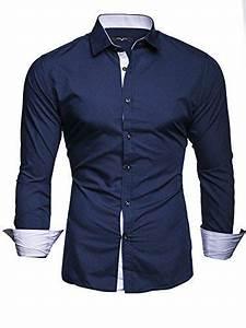 Chemise Homme Slim Fit : kayhan homme chemise slim fit repassage facile manches ~ Nature-et-papiers.com Idées de Décoration