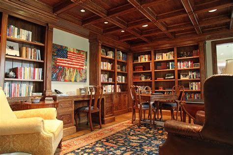 custom home library innovative custom home library design for cool space maximization traditional home office