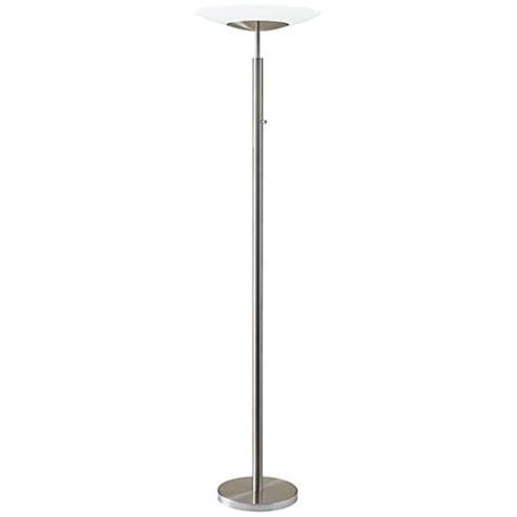 led torchiere floor l stellar brushed steel led torchiere floor l 12w17