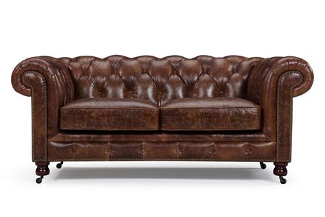 canapé chesterfield cuir canapé chesterfield en cuir kensington 2 places