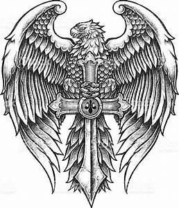 Eagle With Sword Illustration