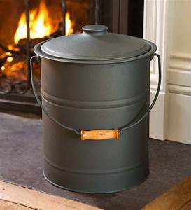 Deluxe, Galvanized, Ash, Bucket, With, Handle, Lid, And, Double-layer, Bottom
