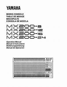 Notice Yamaha Mx200-8-mx200-12-mx200-16-mx200-24