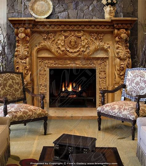 details  ornate fireplace mantel marble surround