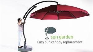 Ampelschirm Sun Garden : sun garden easy sun parasol canopy replacement youtube ~ Frokenaadalensverden.com Haus und Dekorationen