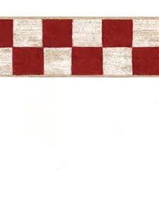 Country Red and White Checkered Border