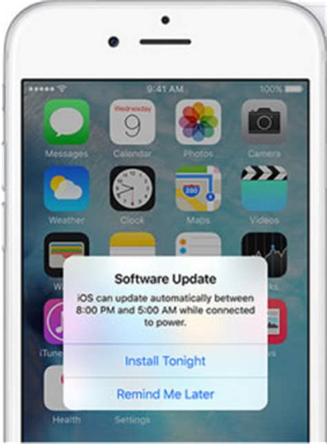automatic updates on iphone ios 9 ota automatic software update feature iphonetricks org