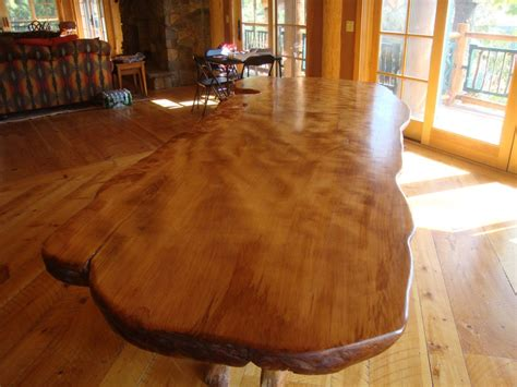 rustic dining table  edge wood slabs littlebranch farm