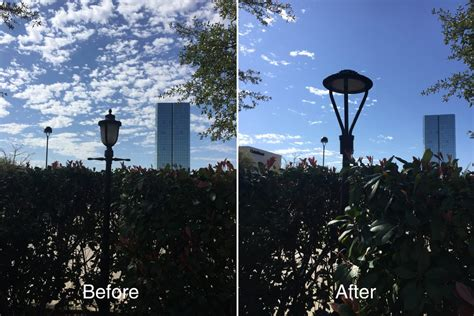 post top led area light solutions to streetscapes in usa