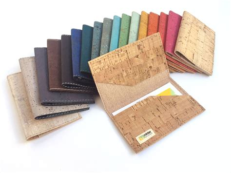 Cork Business Card Case Many Colors. Business Card Holder Business Card Layout Online Kiosks Measurements Mm Maker For Free Download Meaning In English Templates Pages Magnets Word