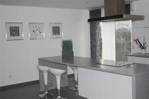 cuisine couleur blanche charmant cuisine laquée blanche plan de travail gris avec