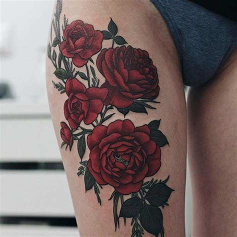 beautiful thigh tattoo ideas  women