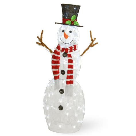 home accents holiday  ft pre lit inflatable snowman