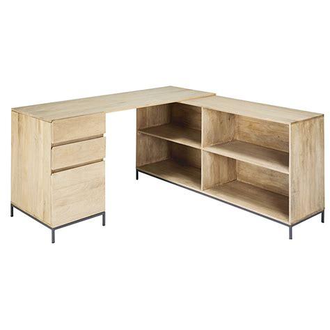 angolo scrivania scrivania ad angolo a un anta e 2 cassetti in legno