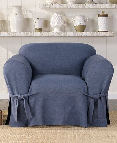 denim chair covers sure fit authentic denim one t cushion chair 3152