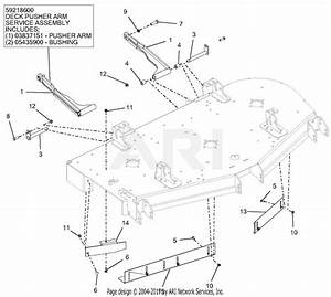 Gravely 992236  030000 - 039999  Pro-turn 460 Parts Diagram For Deck Mount