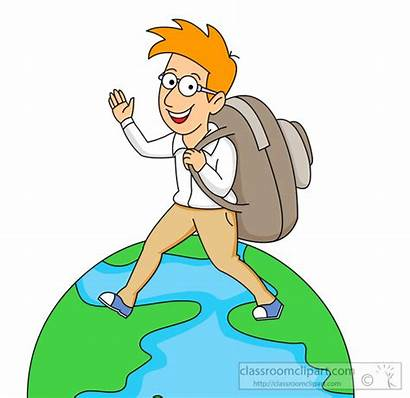Clipart Travel Traveling Around Clip Travelling Traveler