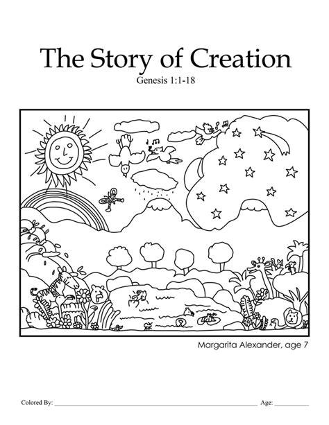 preschool bible stories online creation coloring pages for preschoolers creation 207
