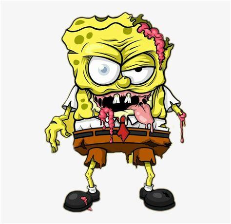 gambar spongebob lucu keren  sedih zombie