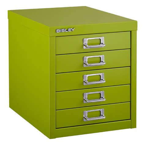 Bisley 5 Drawer Cabinet by Green Bisley 5 Drawer Cabinet The Container Store