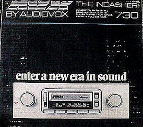 Audiovox Dash Auto Reverse Cassette Stereo