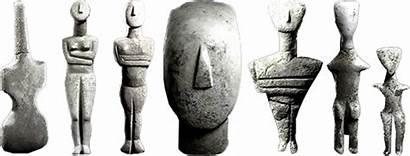 Cycladic Sculptures Greece Sculpture Human Age Figurines
