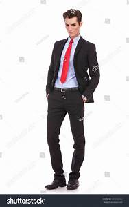 Proud Business Owner Poses Serious Portrait Stock Photo ...