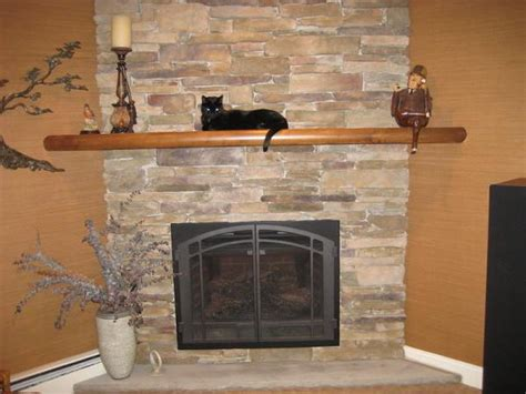 Corner Napoleon Fireplace With Mantel Shelf