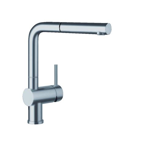 blanco kitchen faucet reviews blanco linus single handle standard kitchen faucet in satin nickel 441197 the home depot